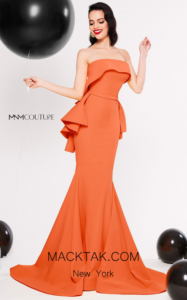 MNM Couture N0325 Coral Front Dress