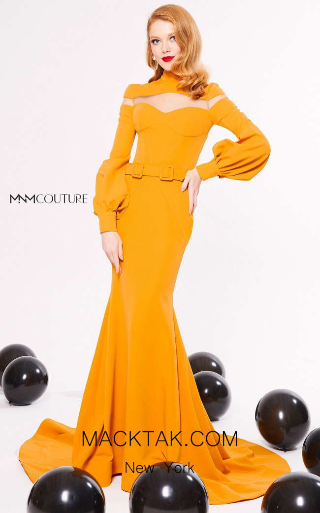 MNM Couture N0326 Mango Front Dress