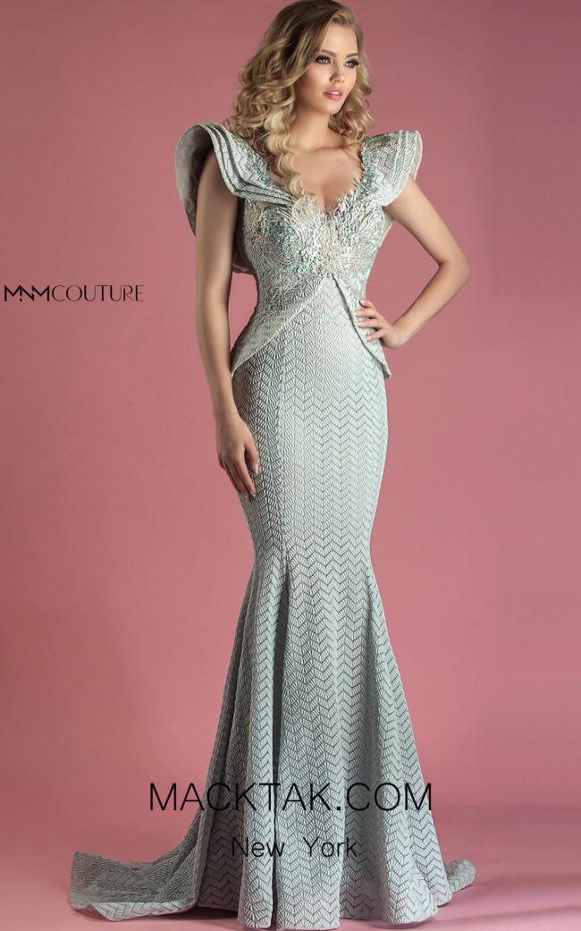 MNM K3545 Front Aqua Dress