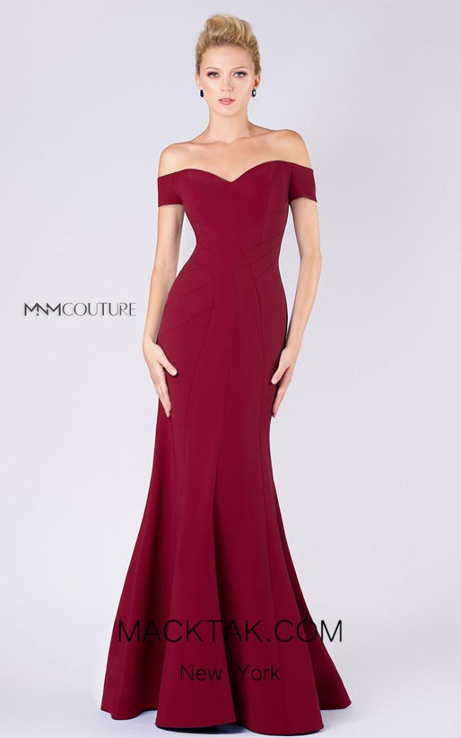 MNM M0005 Burgundy Front Dress