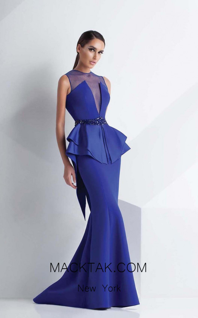 MNM Couture G0787 Blue Front Dress
