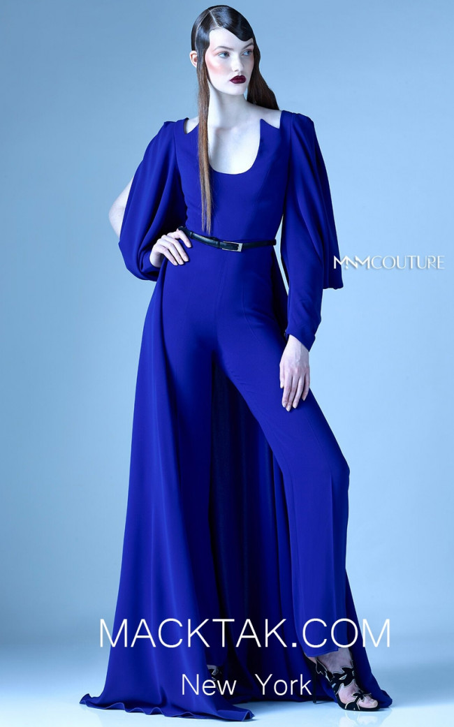MNM G0910 Royal Blue Front Evening Dress