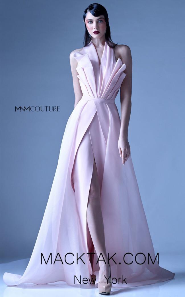 MNM G0924 Pink Front Evening Dress
