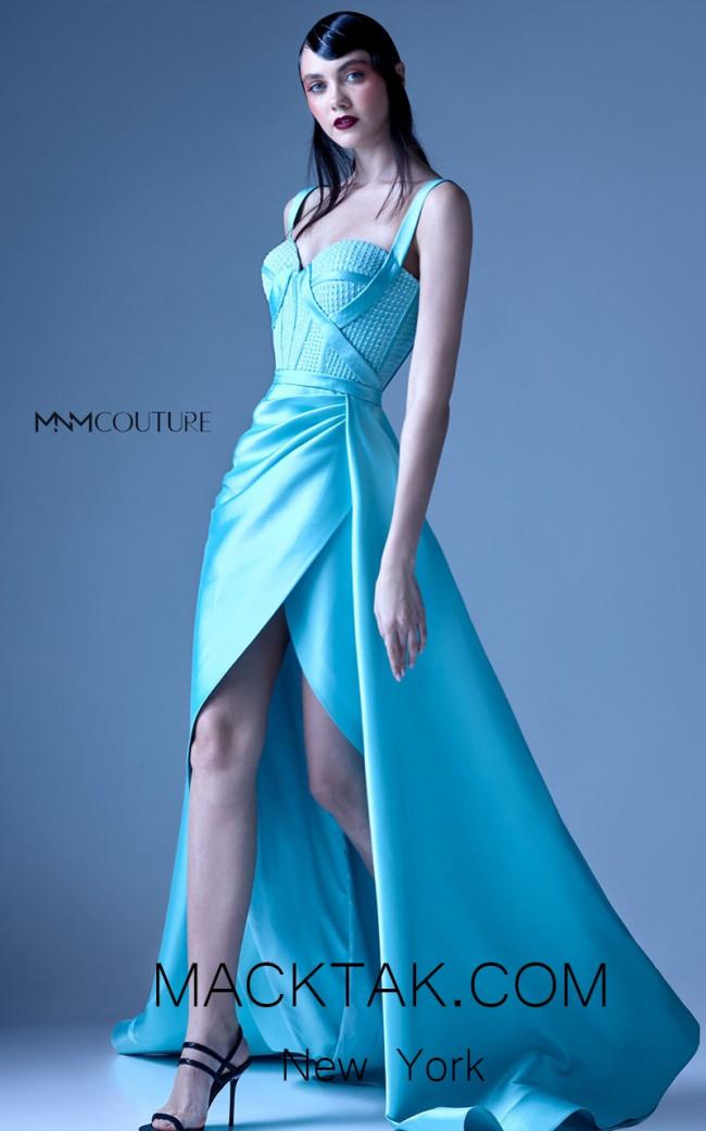 MNM G0926 Aqua Front Evening Dress