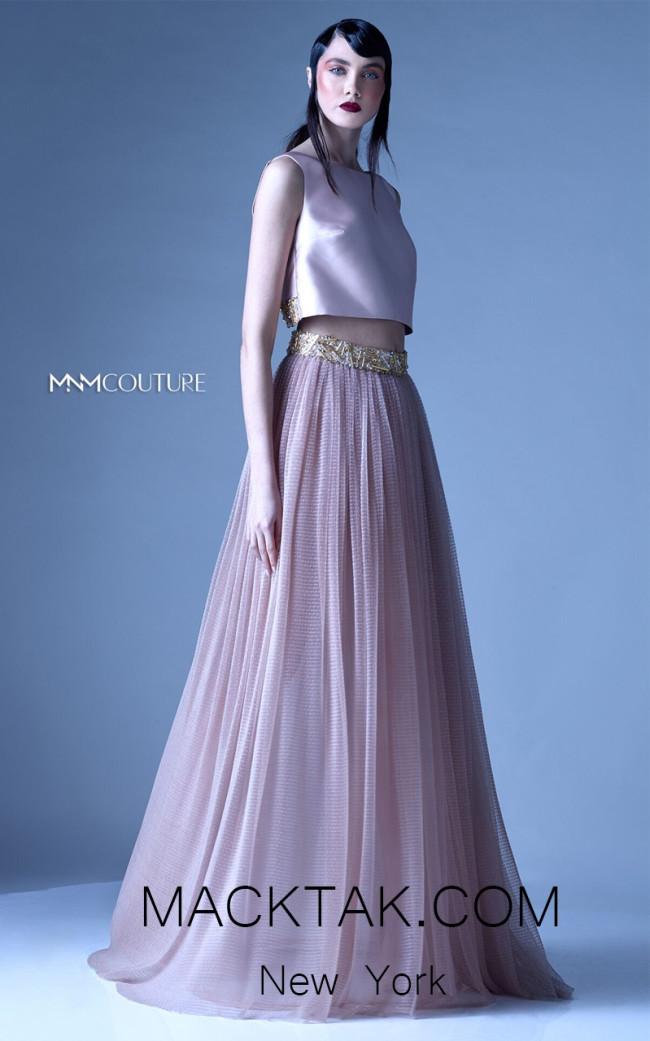 MNM G0929 Beige Front Evening Dress