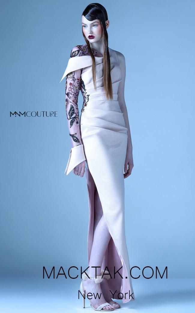 MNM G0931 Rose BonBon Front Evening Dress