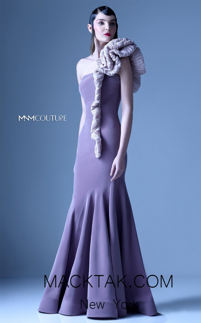 MNM G0932 Purple Front Evening Dress
