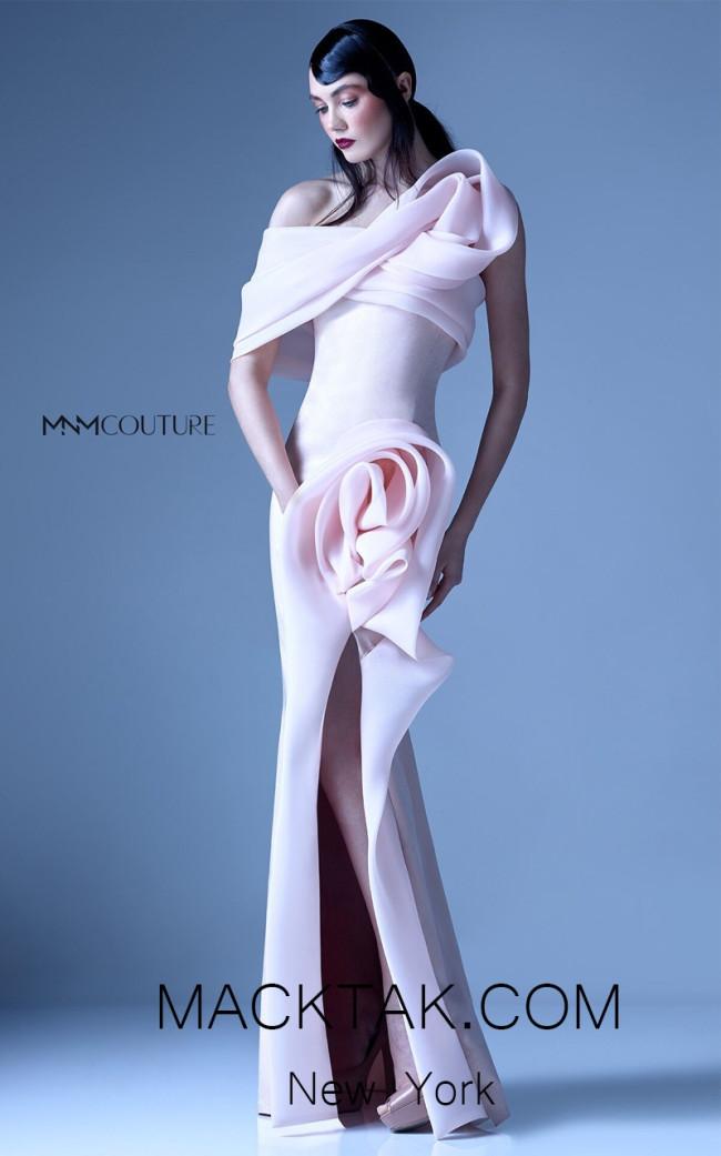 MNM G0935 Pink Front Evening Dress