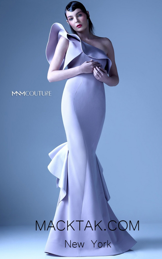 MNM G0960 Gray Front Evening Dress