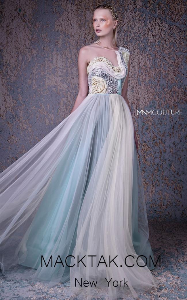 MNM G1002 Multi Front Evening Dress