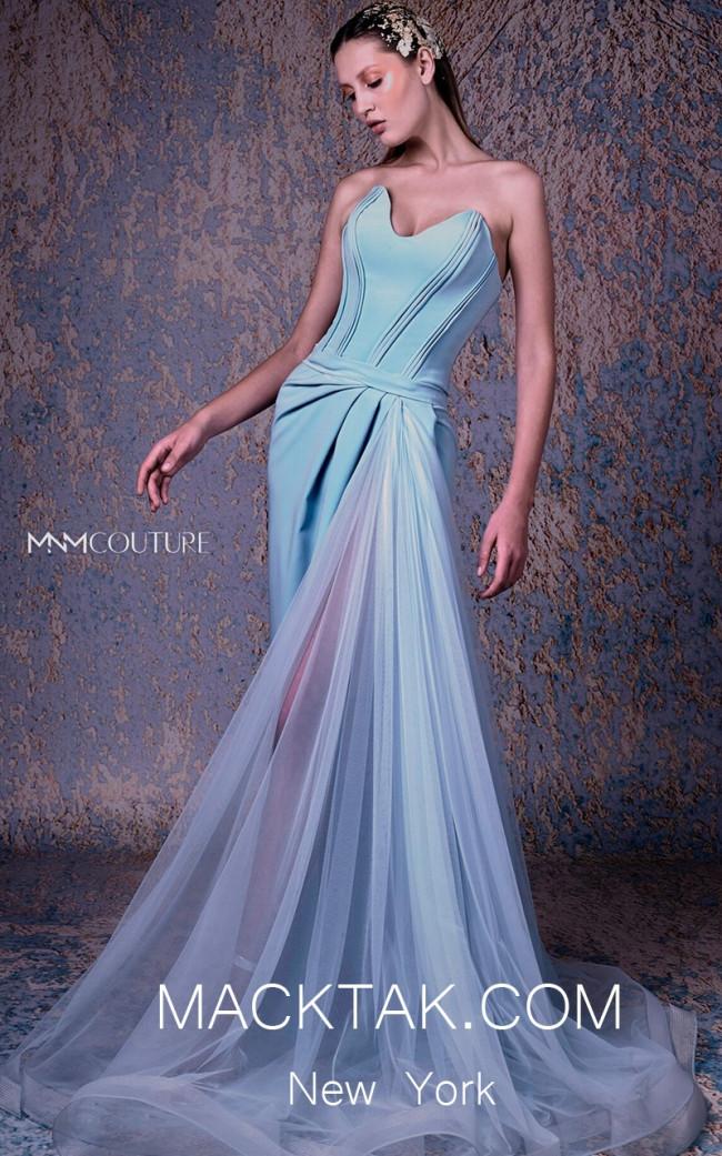 MNM G1023 Aqua Front Evening Dress