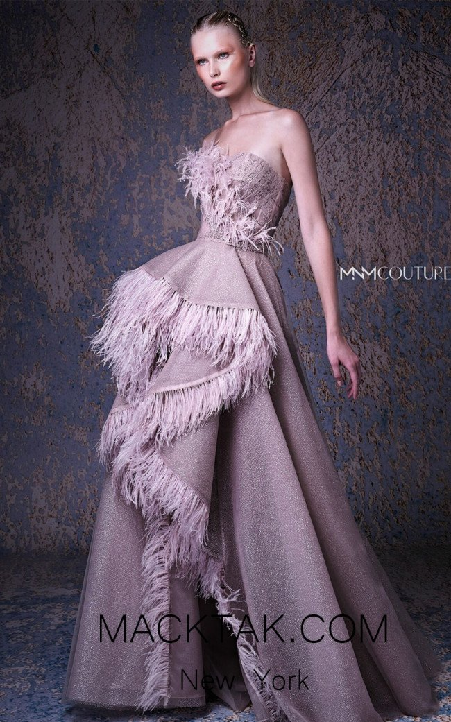 MNM G1029 Blush Front Evening Dress