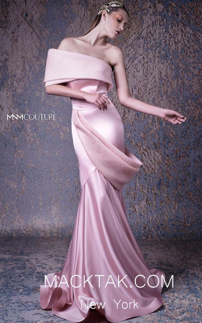 MNM G1038 Pink Front Evening Dress