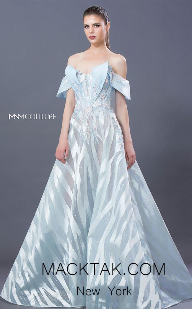 MNM K3654 Blue Front Evening Dress