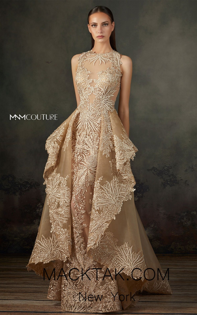 MNM K3666 Nude Front Evening Dress