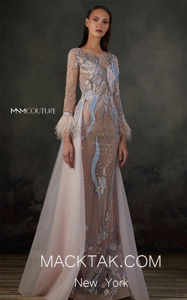 MNM K3668 Pink Front Evening Dress