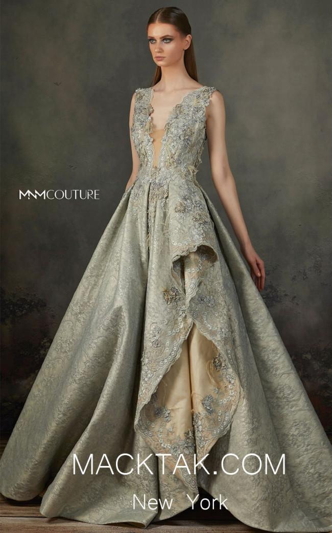 MNM K3670 Aqua Front Evening Dress