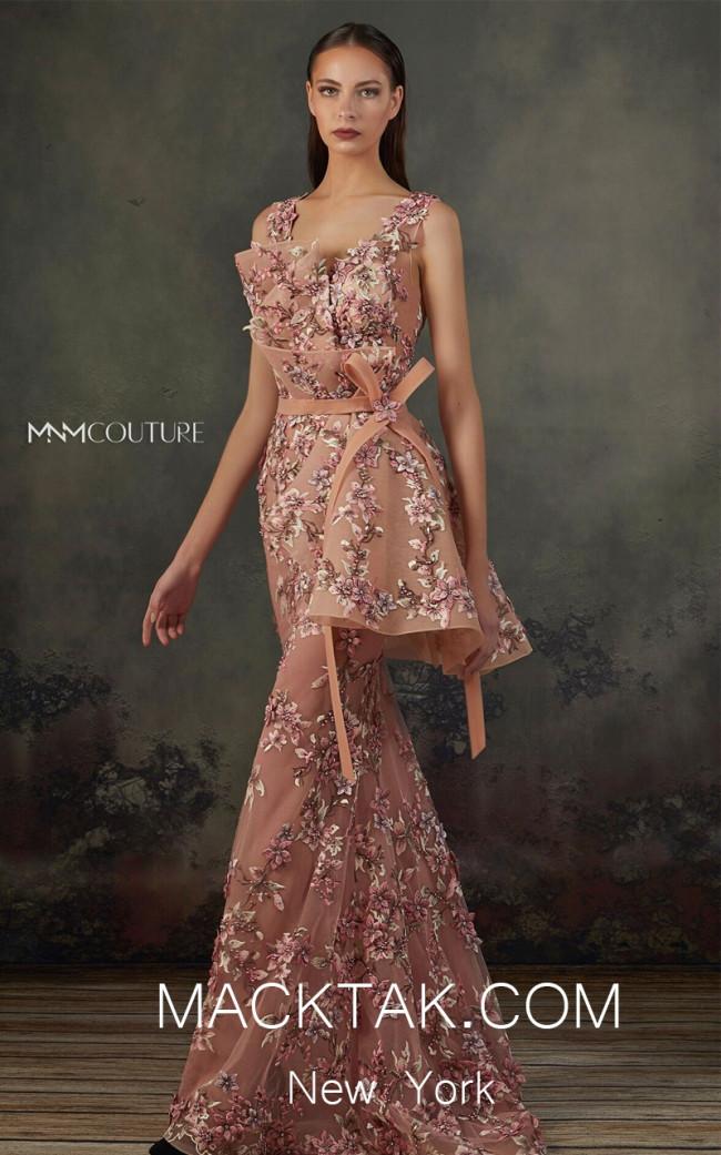MNM K3711 Pink Front Evening Dress