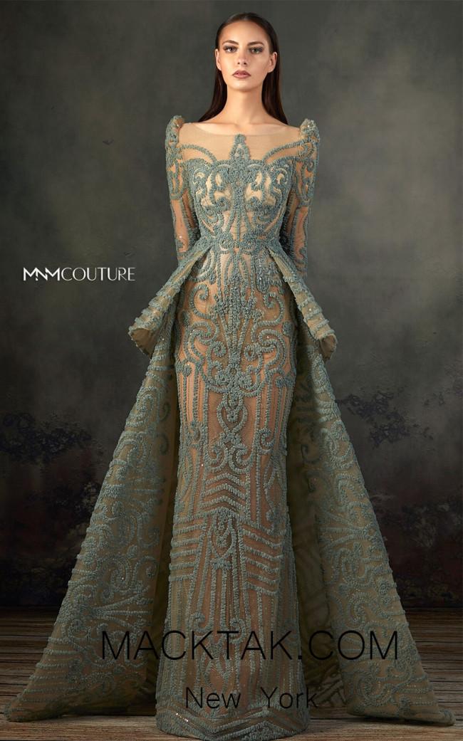 MNM K3715 Aqua Front Evening Dress