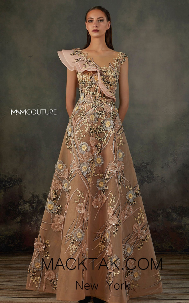 MNM K3717 Pink Front Evening Dress