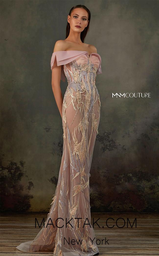 MNM K3718 Pink Front Evening Dress