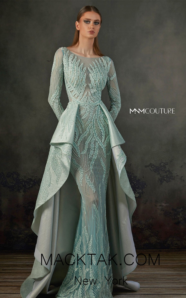 MNM K3719 Aqua Front Evening Dress