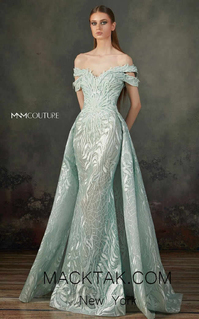 MNM K3721 Aqua Front Evening Dress