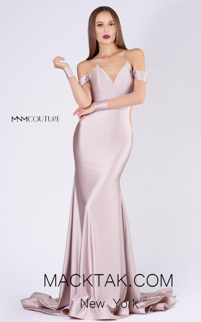 MNM L0044S Blush Front Evening Dress
