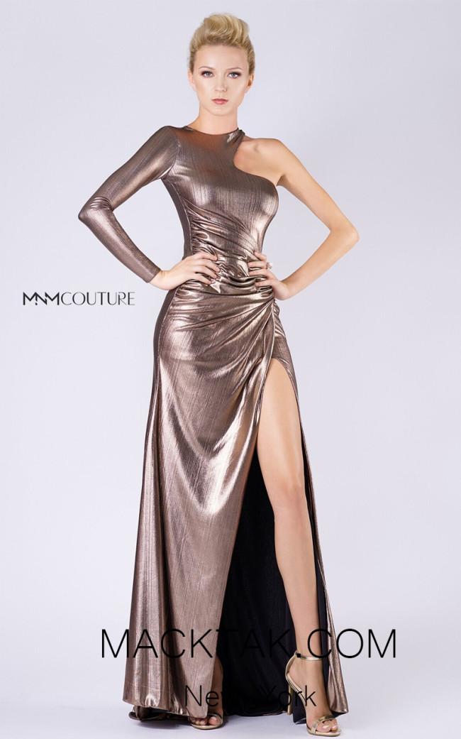 MNM L0049 Bronze Front Evening Dress