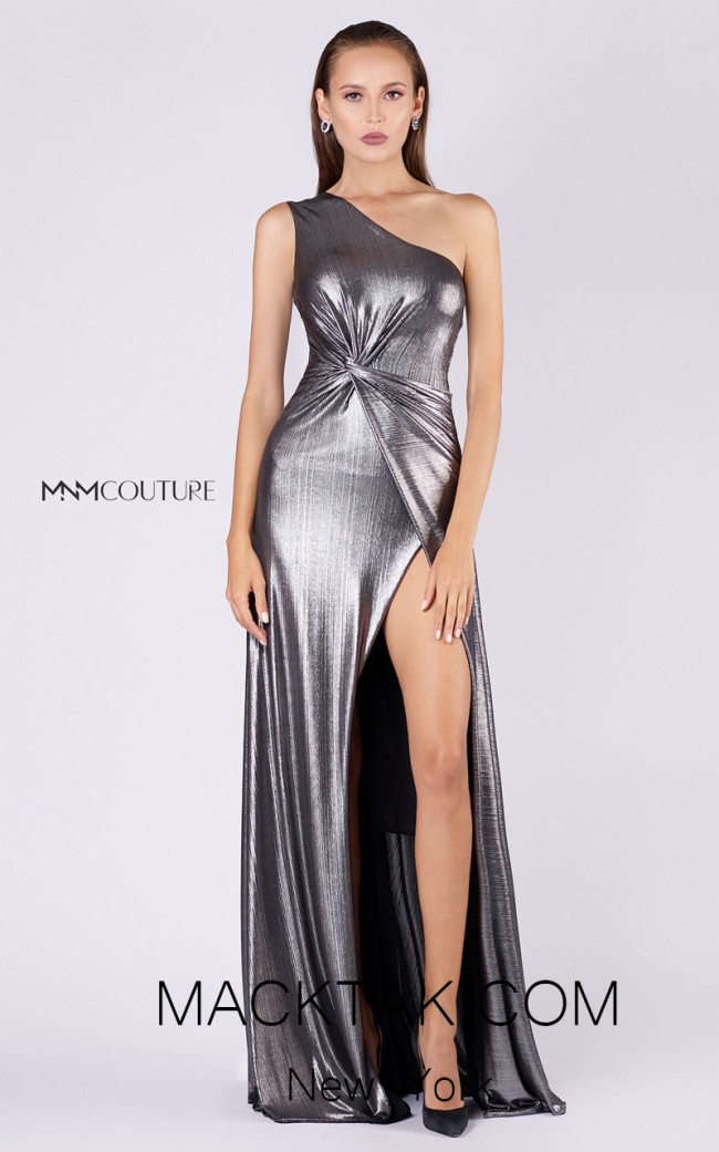 MNM L0050 Silver Front Evening Dress
