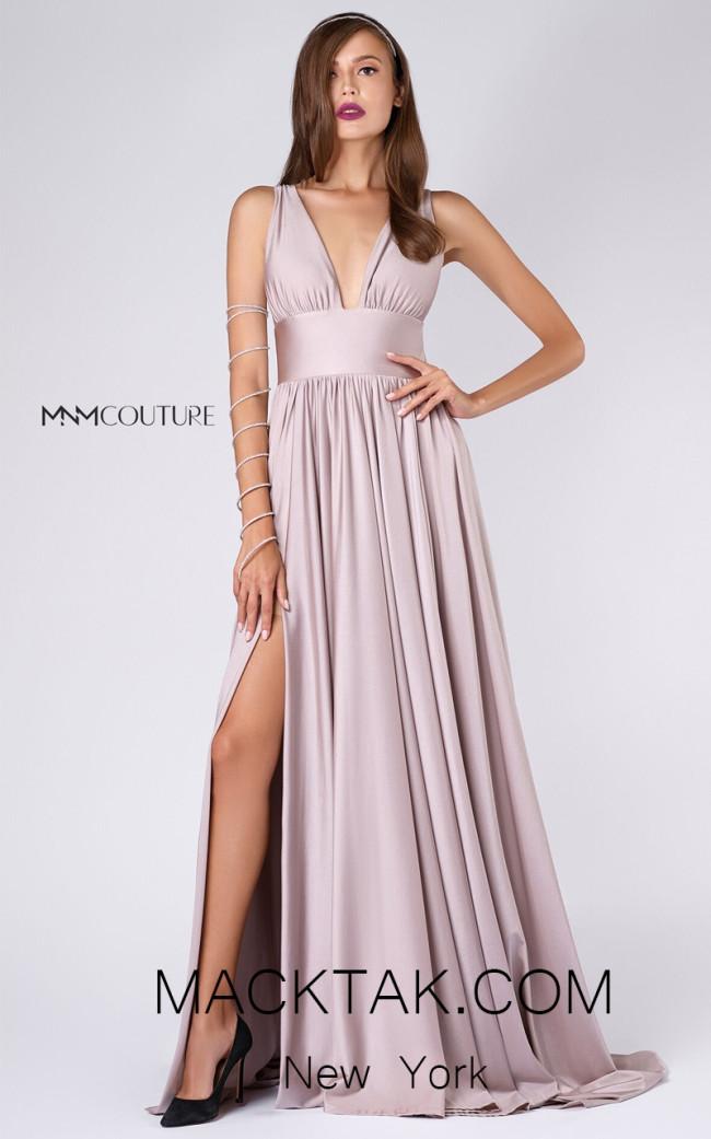 MNM L0051 Blush Front Evening Dress