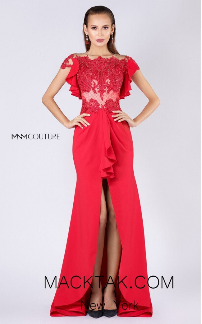 MNM M0034 Red Front Evening Dress