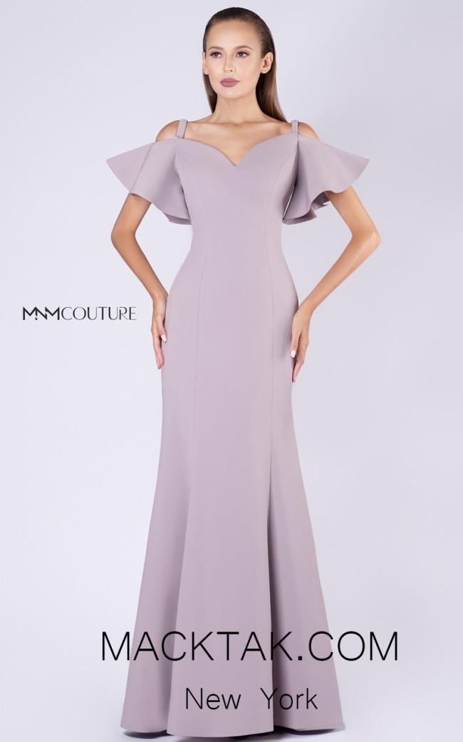 MNM M0035 Beige Front Evening Dress
