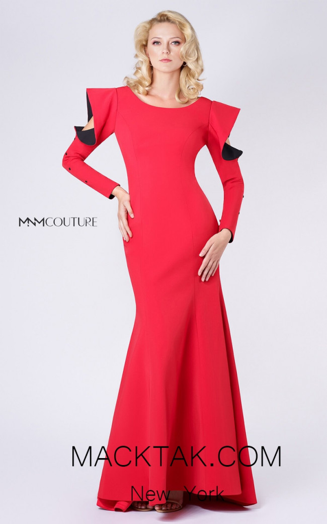MNM M0037 Red Front Evening Dress