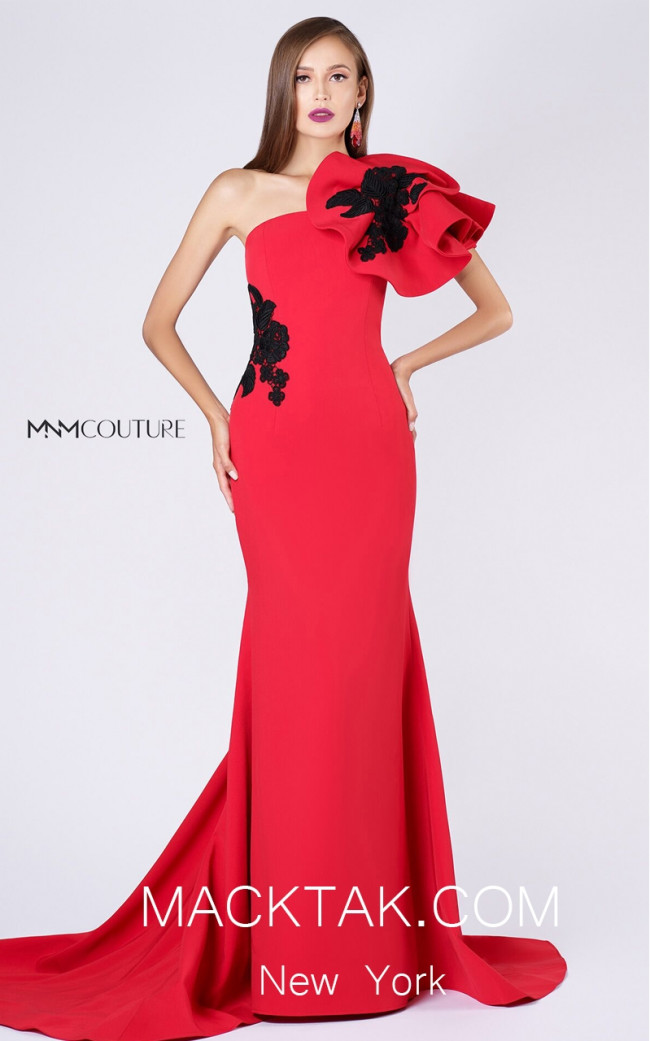 MNM M0042 Red Front Evening Dress