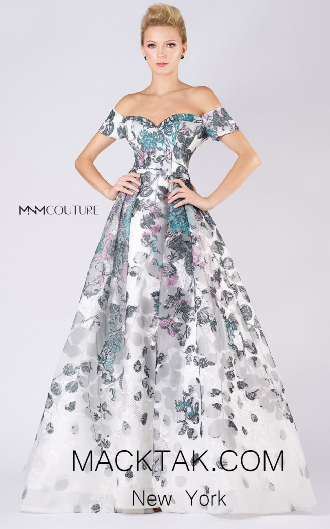 MNM M0049 White Front Evening Dress
