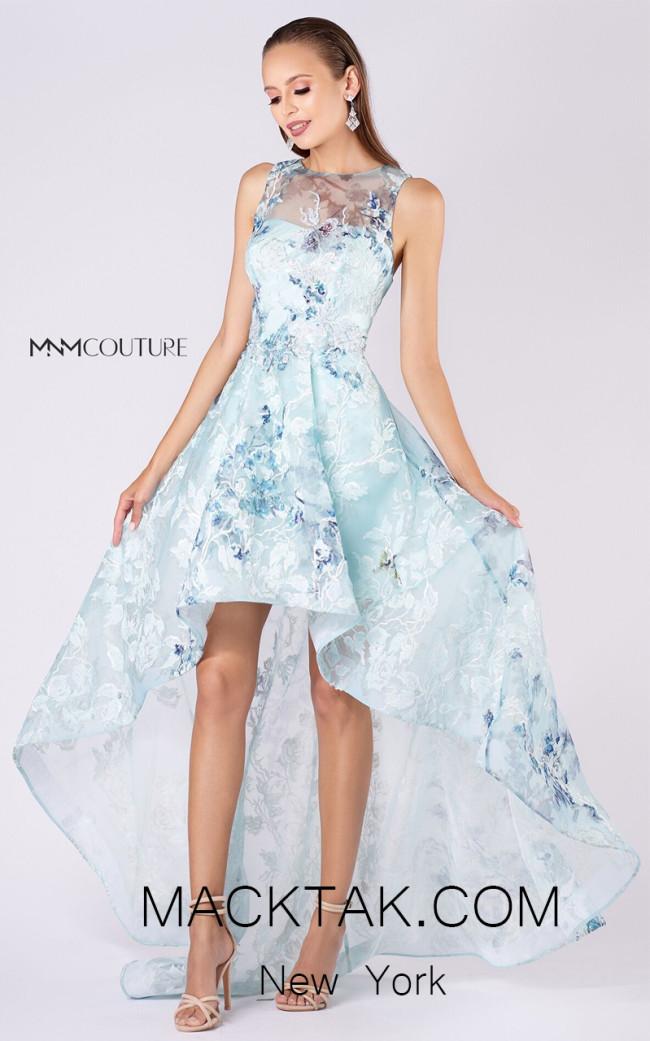 MNM M0050 Light Blue Front Evening Dress
