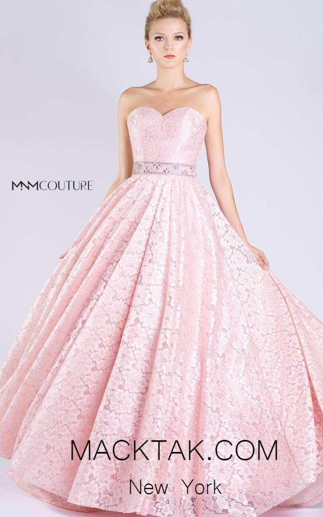 MNM M0060 Pink Front Evening Dress
