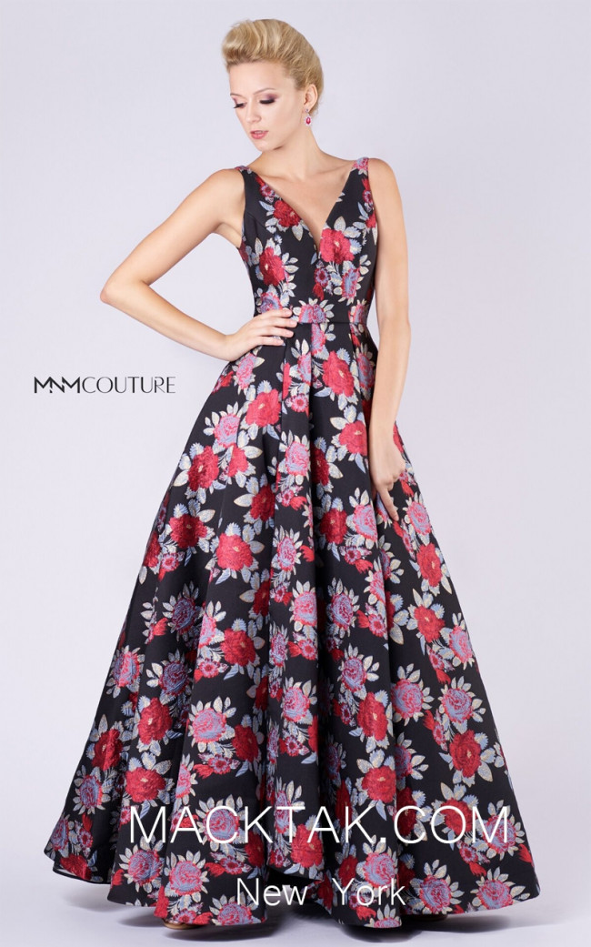 MNM M0062 Multicolor Front Evening Dress