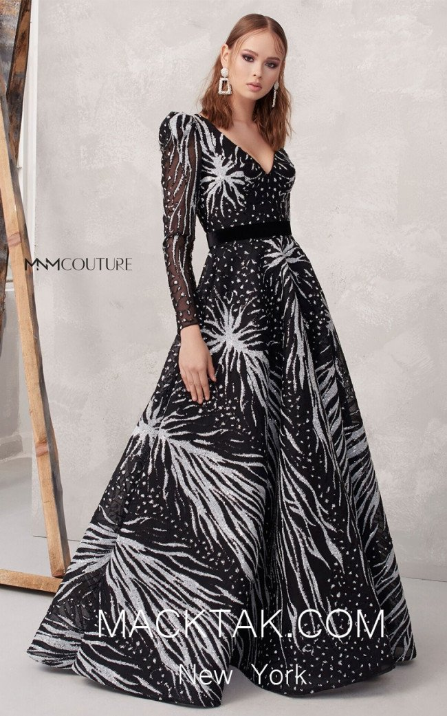 MNM N0262 Multicolor Front Evening Dress