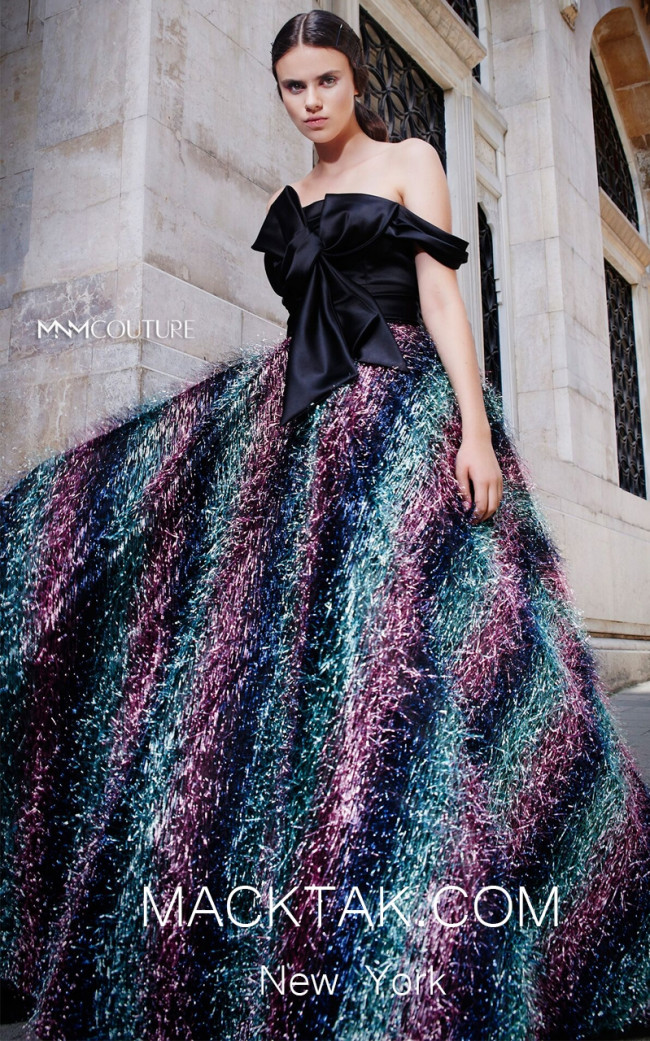 MNM N0301 Multicolor Front Evening Dress