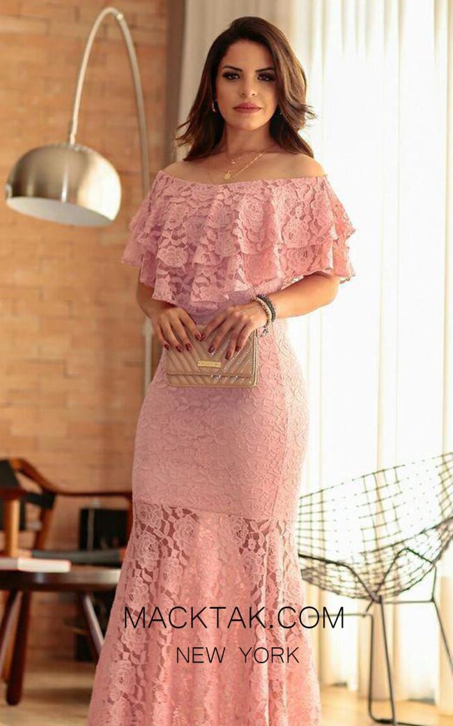 TK MT3957 Pink Front Prom Dress