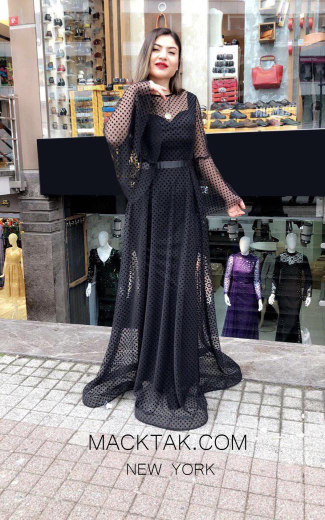 TK MT4904 Black Front Dress