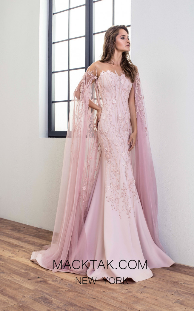 Omur Ozer 18708 Front Powder Dress