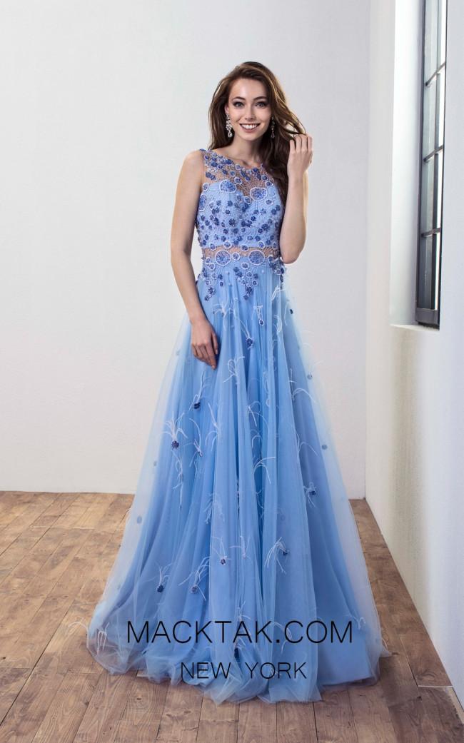Omur Ozer 18775 Front Baby blue Dress
