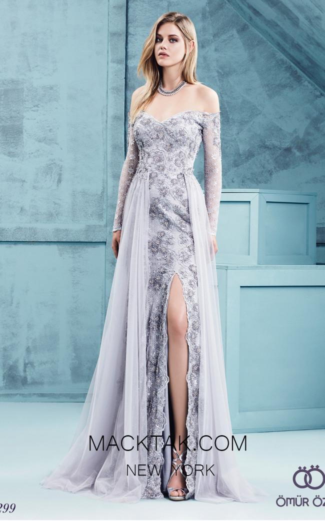 Omur Ozer 57299 Front Grey Dress
