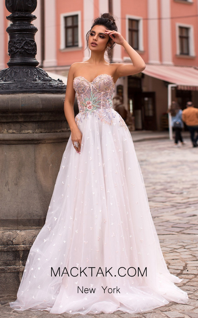Pollardi Davina 5054 Pudra Front Dress
