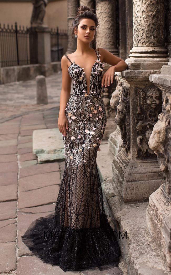 Pollardi Ella 5065 Black Front Dress