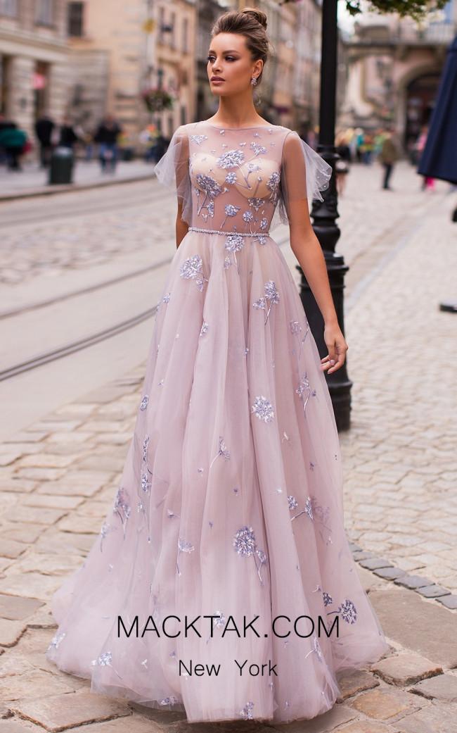 Pollardi Elowen 5058 Gray Front Dress