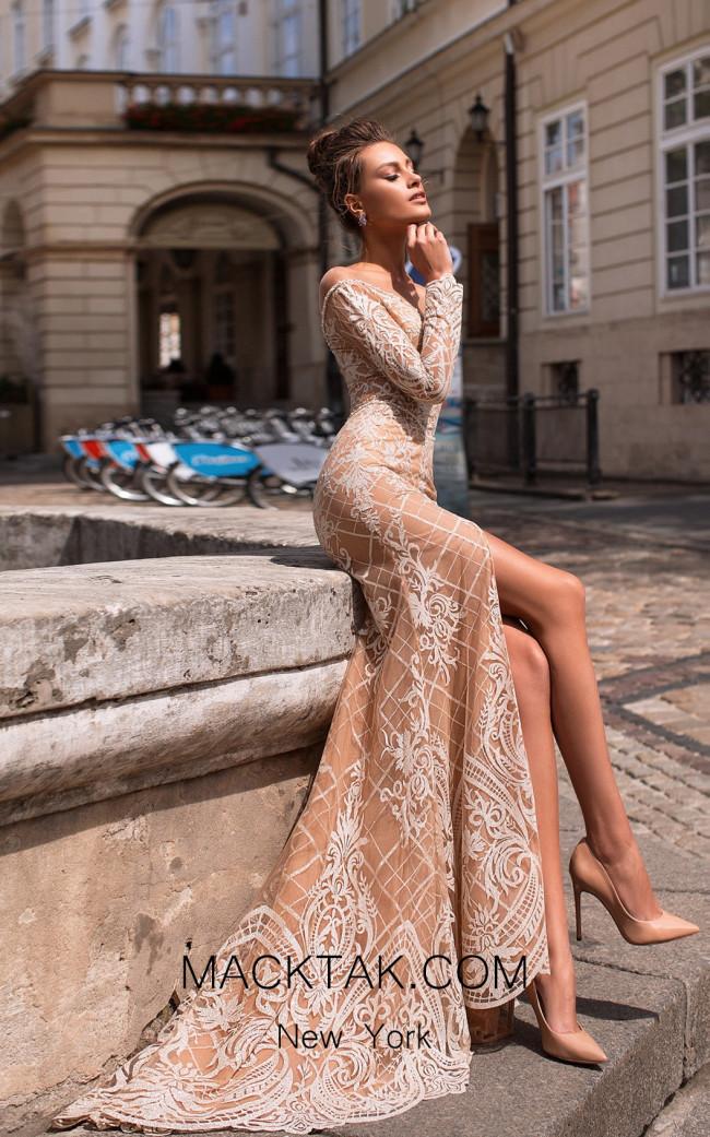 Pollardi Evelyn 5078 Beige Front Dress